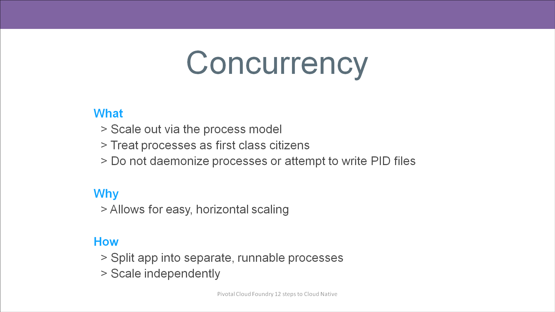 12 Factors to build Cloud Native Applications - Concurrency